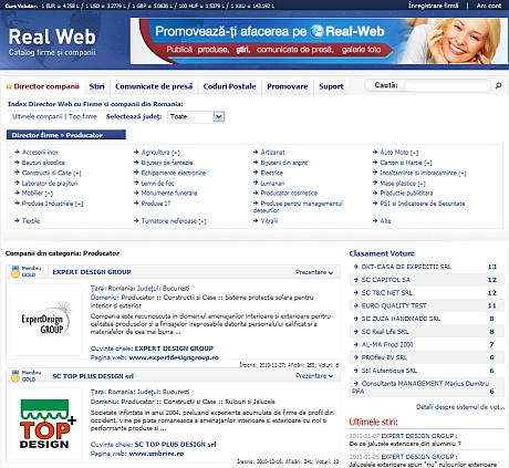 Real Web director firme si companii