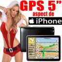 GPS 5inch BT+FM, aspect iPhone, full EU, 2GB intern, 500MHz